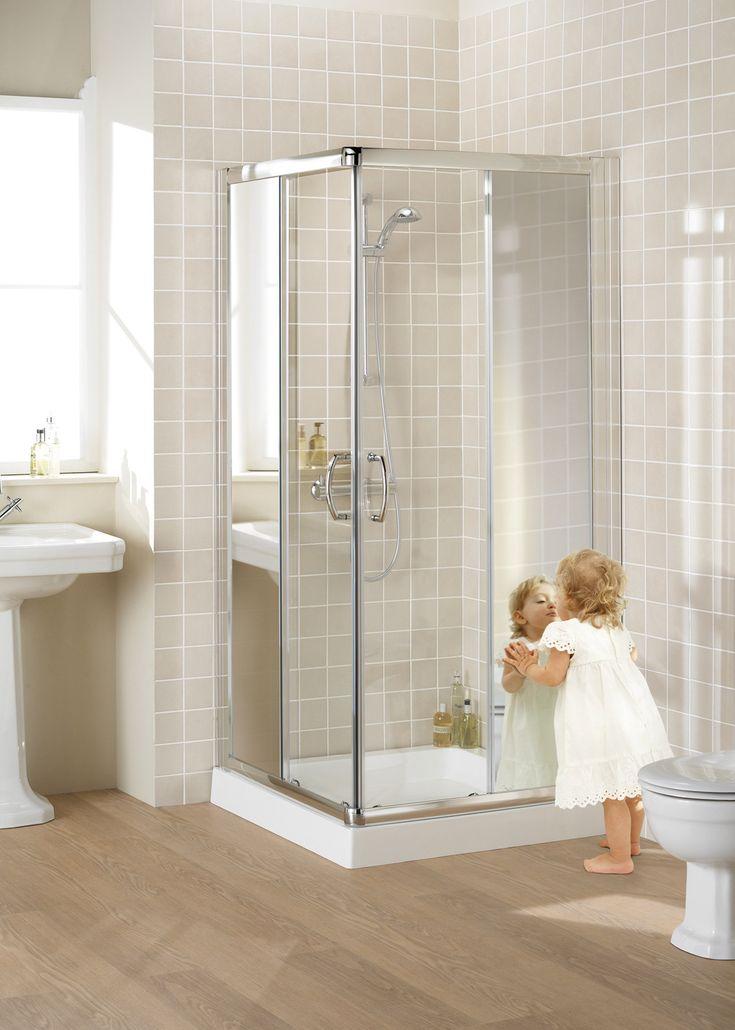 Mirror: Semi-Frameless Corner Entry Shower En › Lakes Bathrooms