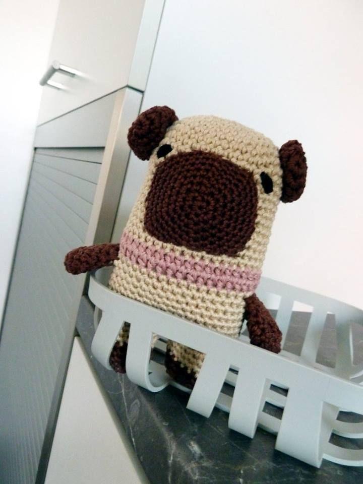 Small crochet pug