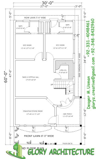 16 best 30x60 house plan elevation 3d view drawings for 3d plan drawing