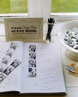 love this idea. having a photobooth at my wedding to go with the guest book or at least a polaroid camera.