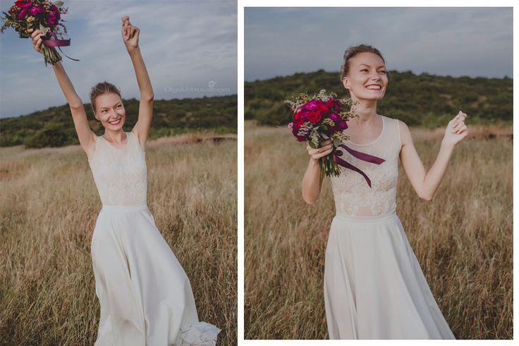 Bridal inspiration. She was so happy, so lovely... Our rustic wedding in goan mountain