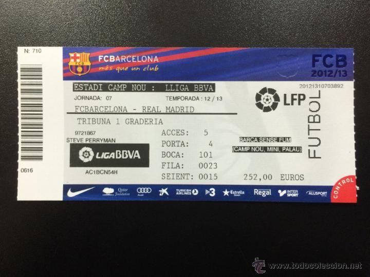 ENTRADA ENTERA FC BARCELONA - REAL MADRID LIGA 2012/2013 CAMP NOU TICKET. - Foto 1