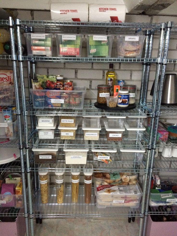 Organize Basement Pantry Storage With Ikea Omar