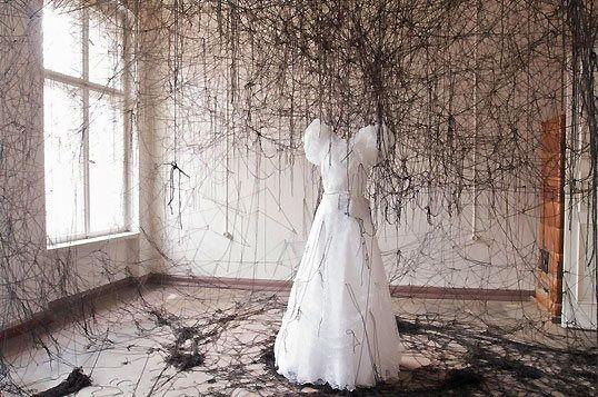 Chiharu Shiota  Unconscious Anxiety. 2009 Galerie Christophe Gaillard, Paris, France