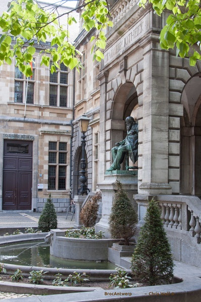 ANTWERPEN - Hendrik Concienceplein - the old Jesuit convent and city archives