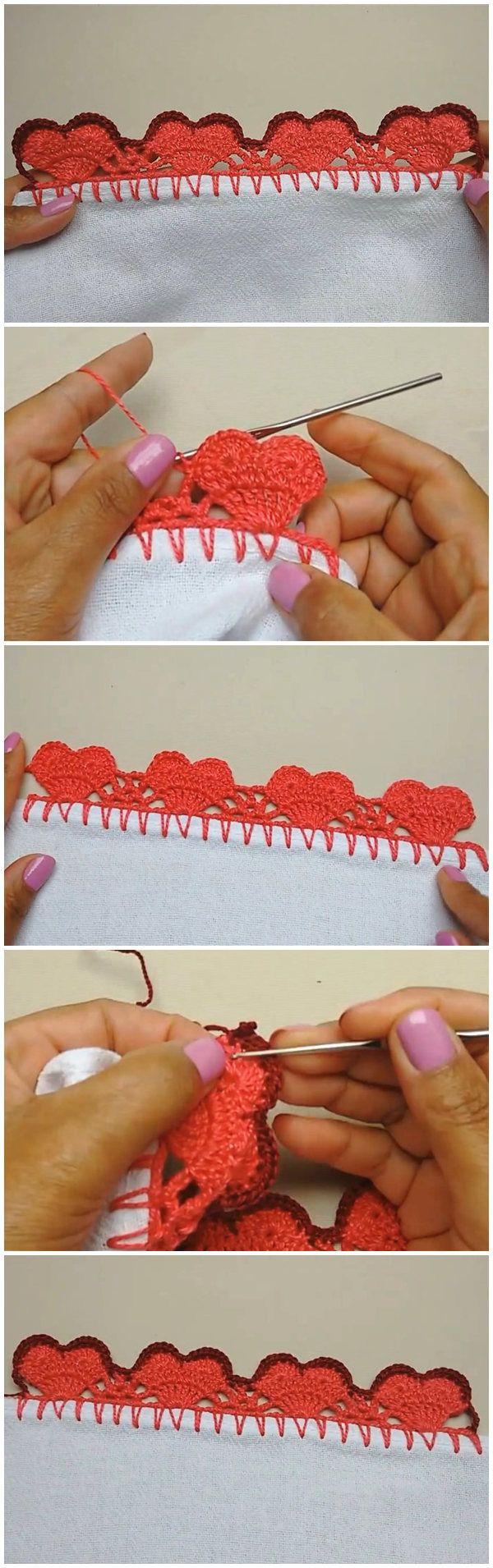 Heart Crochet Edging