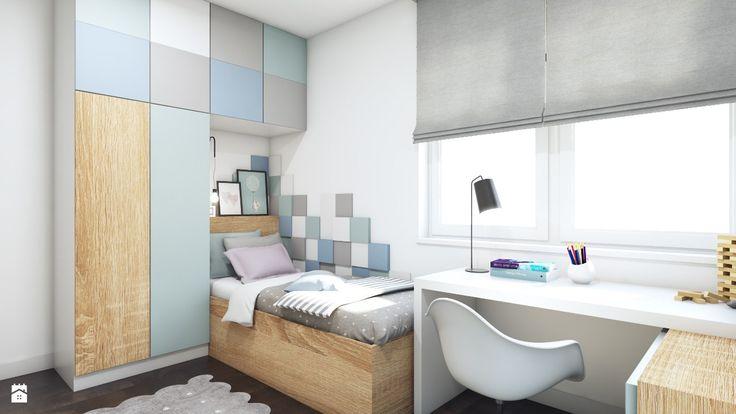Pastelowa sypialnia - zdjęcie od MONOstudio - Sypialnia - Styl Skandynawski - MONOstudio