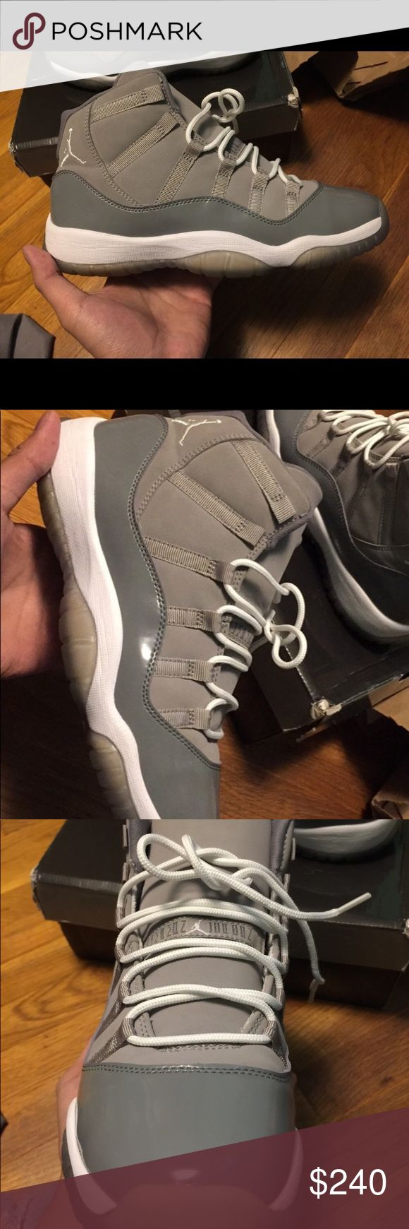 Cool grey 11s Size 7 These are clean, OG all, hard to find basically rare Jordan Shoes Sneakers