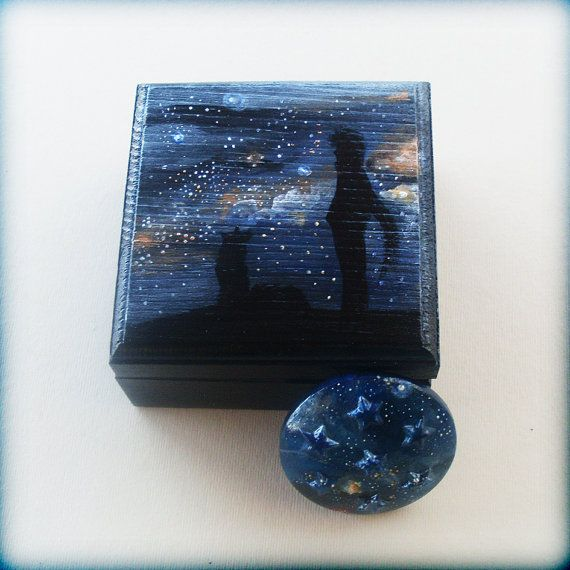 Little Wooden Keepsake Box  Gazing Into The by allabouthandicraft
