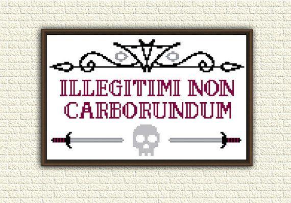 Funny Cross Stitch Pattern pdf  Illegitimi non carborundum