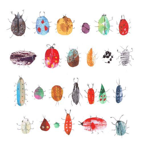 Krabbelkäfer - Muster und Strukturen sowie Signal- und Warnfarben