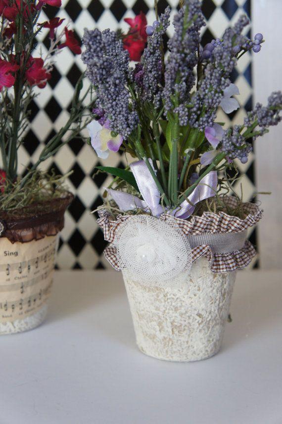 Винтажный декор торфяных горшочков