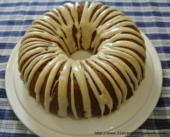 Apple and Pecan Cake with Maple Glaze