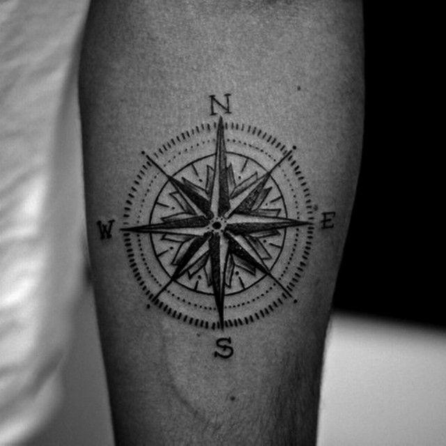 compass card tattoo by fernanda prado #tattoo #fernanda #prado #fernandaprado