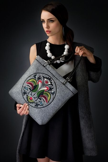 GOSHICO embroidered tote bag NEW FOLK http://mybags.co.uk/goshico-embroidered-tote-bag-new-folk-116.html