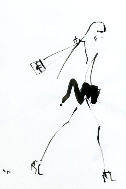 Fashion illustration - fashion sketch // Miyuki Ohashi