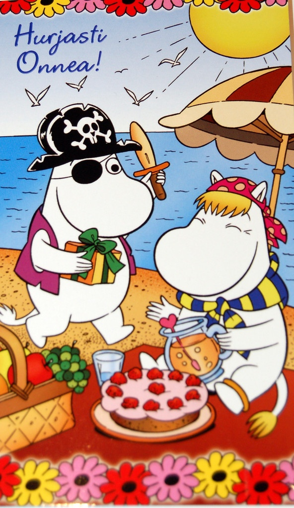 Moomin card - PIRATE MOOMINTROLL