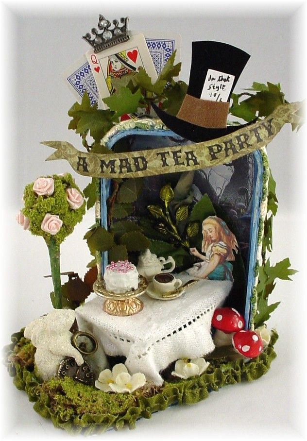 Trash to Treasure Art: Alice's Tea Party- Altered Altoid Tin