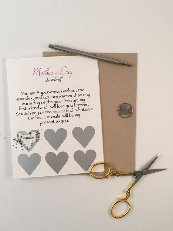 Mother's Day Scratch-off Card by Craftsbyfa on Etsy