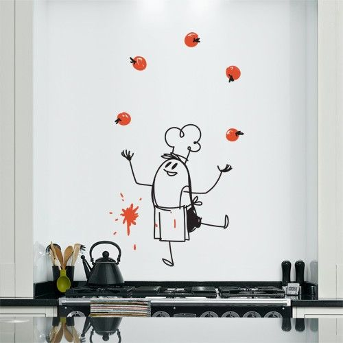Add Charm And Humor To Your Wall With This Vinyl Wall Sticker Featuring The  Famous Chef Wally On Your Wall. Part 20