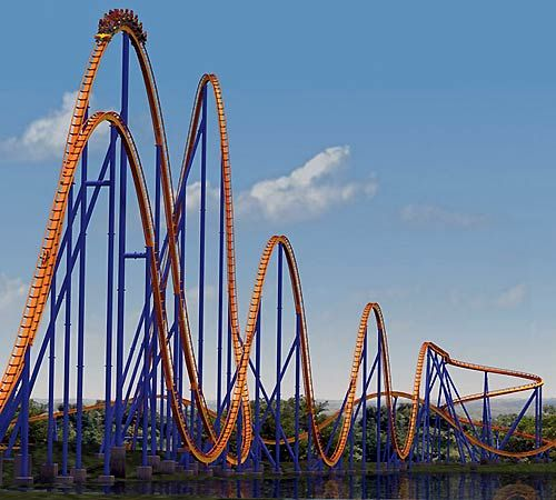 NerdWallet's Top 10 Roller Coasters in the World: The Behemoth, a steel coaster at Canada's Wonderland in Ontario, is Canada's tallest and fastest coaster. The ride lasts a solid 3 minutes, starting riders on a 230-foot lift to achieve a max speed of 77mph in 3.9 seconds. The first big hill is followed by a series of 5 air-time hills, a hammerhead turn and 2 helixes.The Behemoth was the first of its kind to employ a prototype seating arrangement to provide an unobstructed view for every…