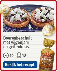Jan Linders - boerenbeschuit met vijgenjam en geitenkaas (recept)
