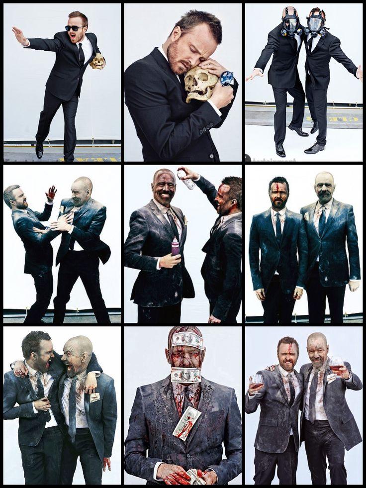 Aaron Paul and Bryan Cranston in Entertainment Weekly. www.ochomesbyjeff.com #orangecountyrealtor #jeffforhomes #breakingbad
