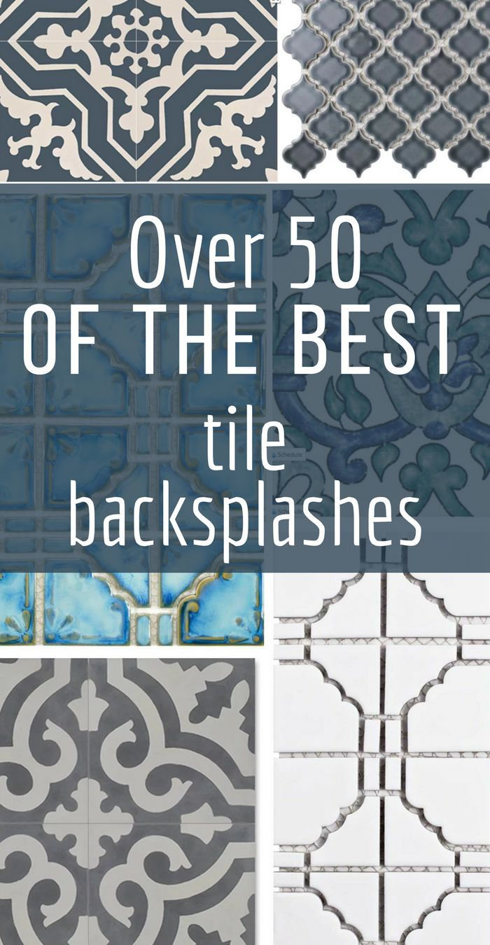 Over 50 of the best tile backsplashes, with sources!  Need some inspiration on which backsplash is the best one for your kitchen bathroom, or laundry room?  Take a look at these and save this as a valuable resource for home decor and interior design enthusiasts.  #TwelveOnmain #tile #backsplash #homedecorideas #homedecor #kitchendecor
