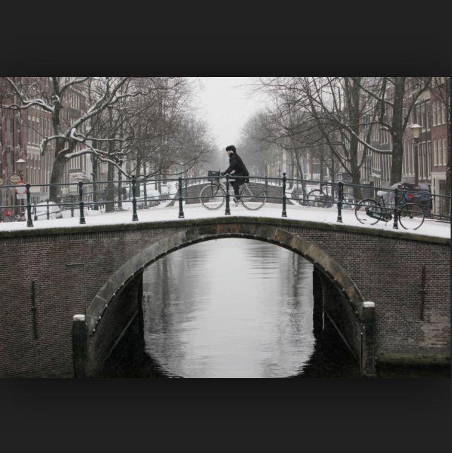 Bike riding over bridges