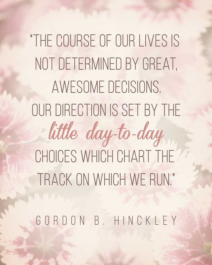 Gordon B. Hinckley LDS Quote #goals #motivation http://sprinklesonmyicecream.blogspot.com/