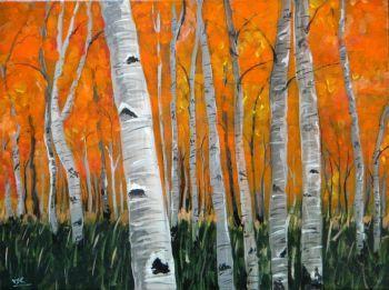 Autumn forest Artist: vitikala, santosh Artwork title: Autumn forest