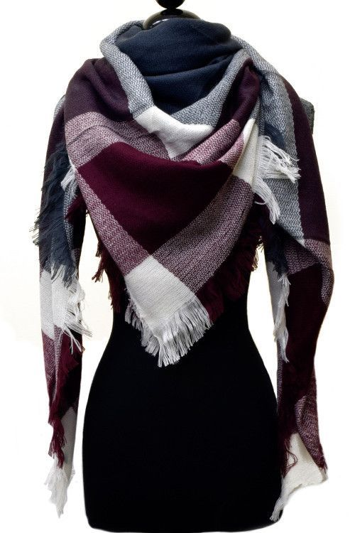 Blanket Scarf – Bloom and Snow Boutique I want a blanket scarf in this burgundy color and also there tan version! So cute and warm!