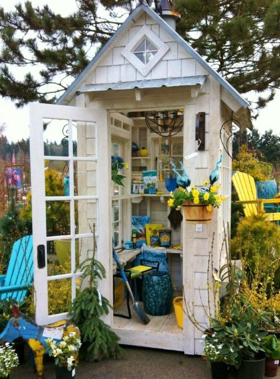 A Potting Shed Garden Sheds Pinterest Gardens