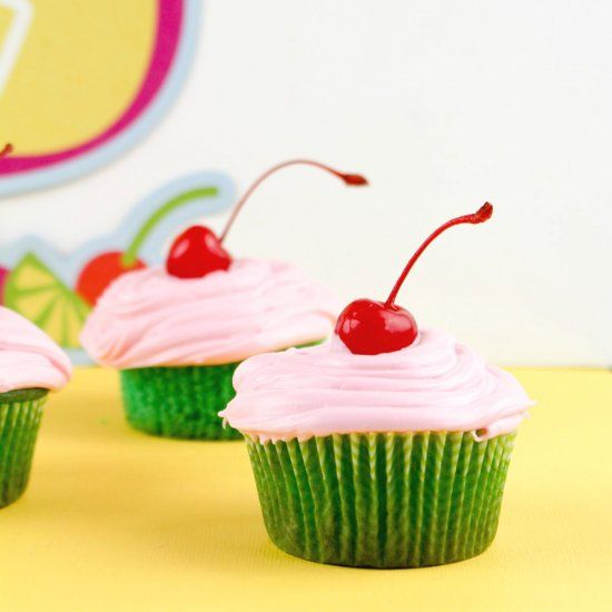 Put a spin on the classic Limeade drinks with these Cherry Limeade Cupcakes.