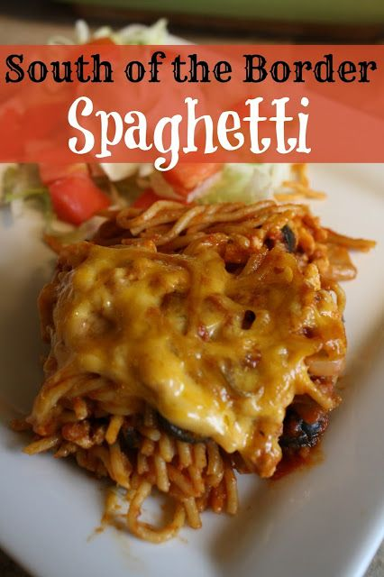 South of the Border Spaghetti -perfect family recipe after a long day of work…