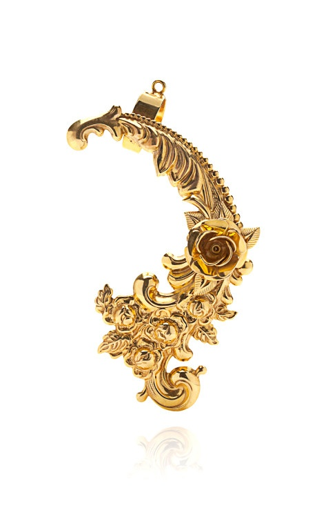 Gold Plated Baroque Ear Cuff by Mordekai Now Available on Moda Operandi