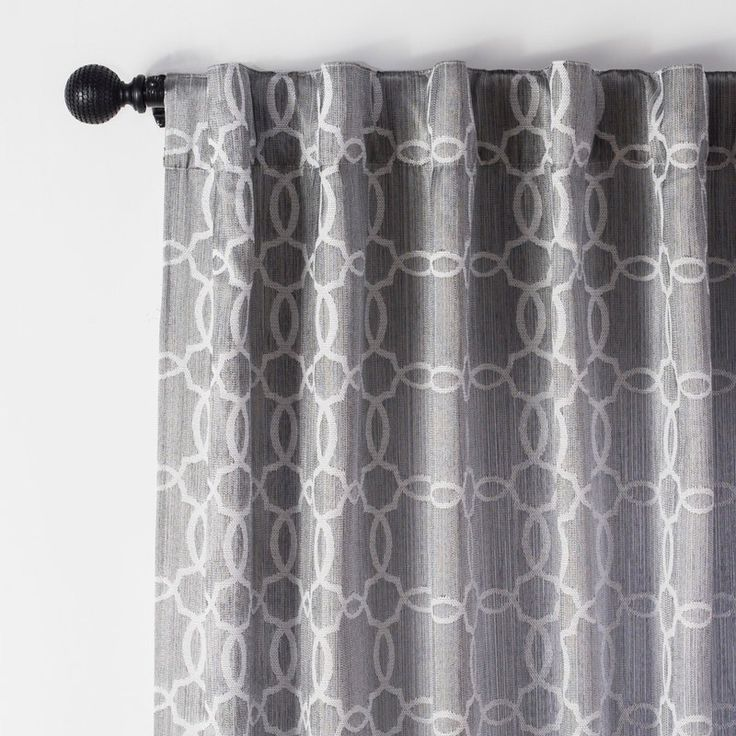 JOFRID Jacquard Lined Curtain (Grey)