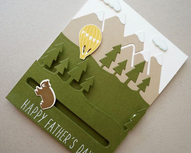Father's Day Slider Card Using Always an Adventure Bundle for Color Throwdown #397 - The Stamp Cycle