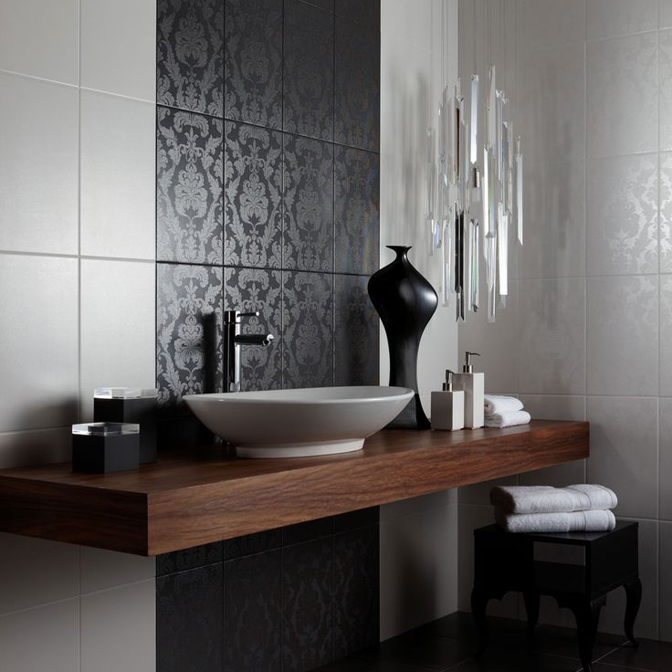 100 best images about bathroom laundry on pinterest for Feature wall bathroom ideas