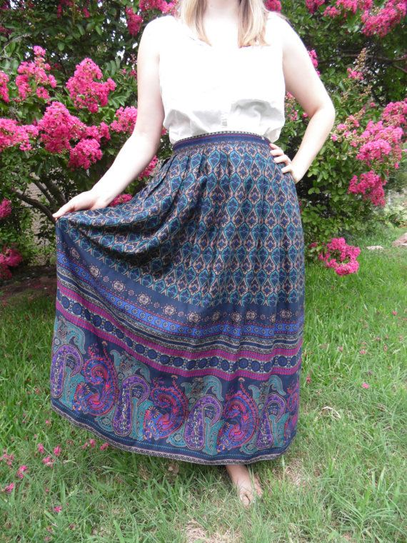 Check out this item in my Etsy shop https://www.etsy.com/listing/157719552/vintage-long-gypsy-printed-light-wool boho gypsy mani skirt style fashion summer ready to wear