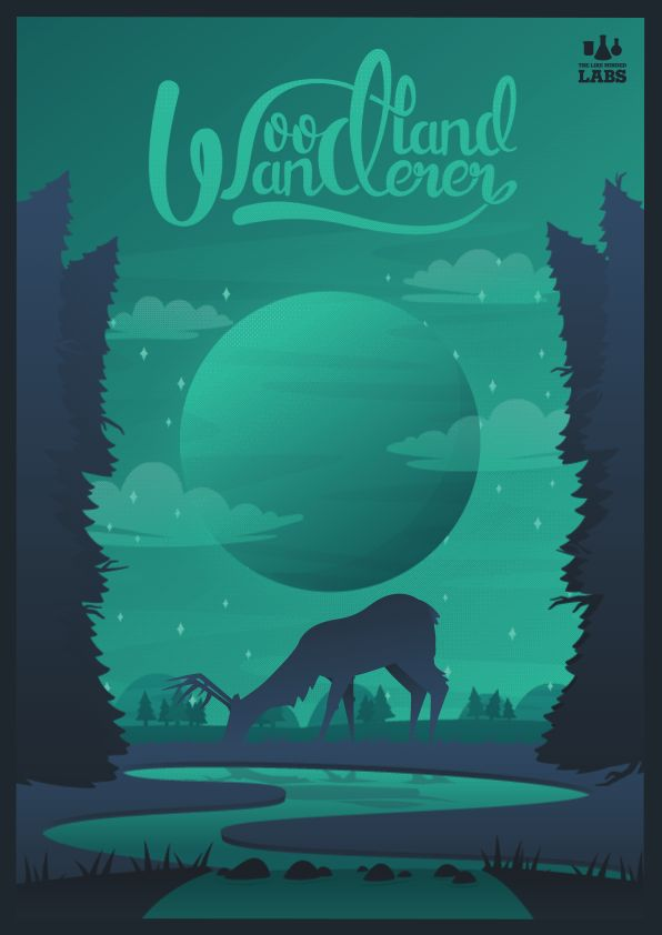 Witness the world of the Woodland Wanderer. Animated poster inspired by Attenborough and Sci-Fi.