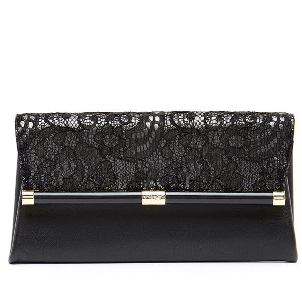 Diane von Furstenberg 440 Lace Covered Leather Envelope Clutch (€97) ❤ liked on Polyvore featuring bags, handbags, clutches, grey, grey envelope clutch, leather envelope clutch, leather purses, gray leather purse and genuine leather purse