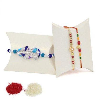 Set Of 3 Rakhis - Send Rakhi gifts to Bangalore - Rakhi to Bangalore, Online Rakhi delivery Bangalore