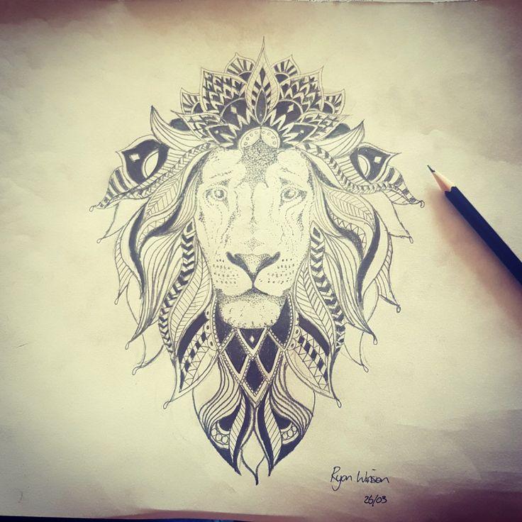 best 25 mandala lion ideas on pinterest mandala lion tattoo lion arm tattoo and lion. Black Bedroom Furniture Sets. Home Design Ideas