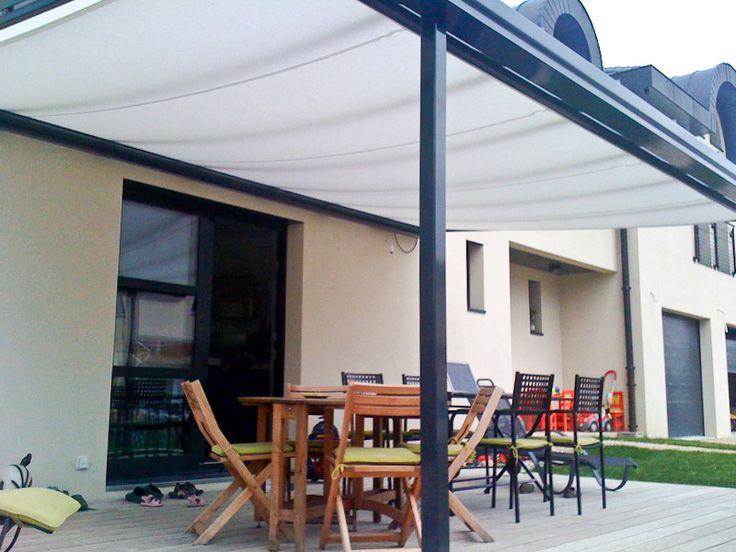 TerraSmart Terrassenüberdachung Classic-Line - Terrassendach braun mit 2 Stützen und Terrassendachinnenbeschattung