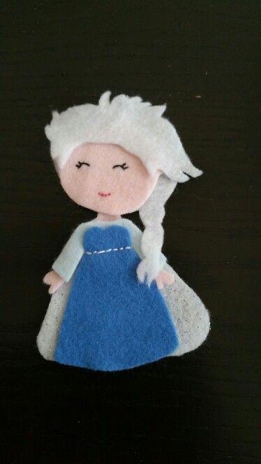 Felt bookmark - Elsa