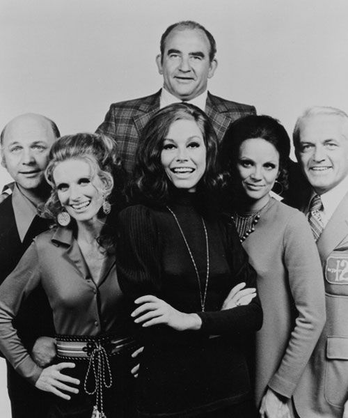 """The Mary Tyler Moore Show"" was the first TV program to feature a single, professional career woman as the protagonist. (photo: Pioneers of Television Archive)"
