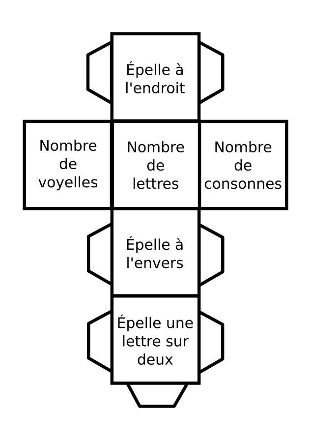 Un dé d'activité autour du langage