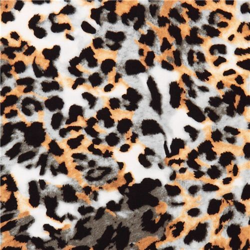 Cheetah green-brown animal fabric In the Tropics 1