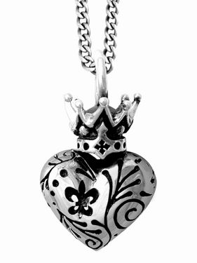 Day of the Dead Crowned Heart #Pendant KING BABY STUDIO - OFFICIAL SITE